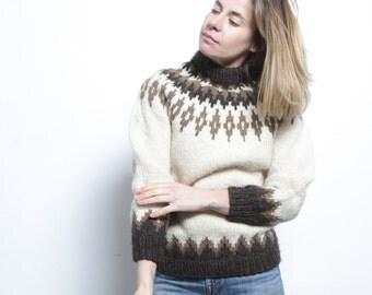 LOG lady twin peaks woolrich style COWICHAN 60s wool nordic sweater EUROPEAN cardigan pullover sweater