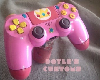 NEW! Princess peach inspired ps4 controller!