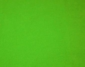 Neon lime green fleece 1 7/8 yard
