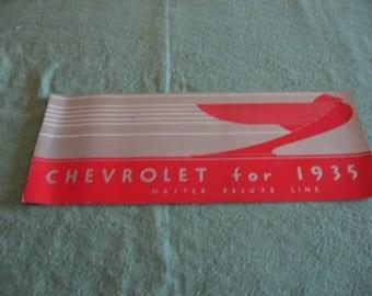 1935 Chevrolet Brochure