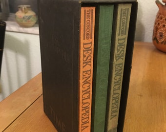 Vintage, 3 Volume Paperback, The Concord Desk Encyclopedia by TIME,  1982