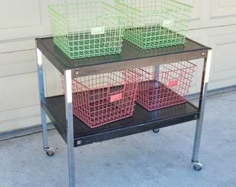 Vintage AV Cart - Rolling Kitchen Cart-Food Prep Station