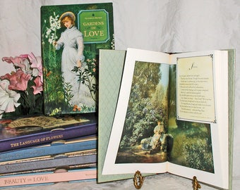 Vintage Victoria's Secret 4 Scented Poetry Books & Penhaligon's The Language of Flowers Scented Book All Slipcased - Great Gift