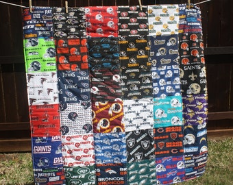 Youth size Nfl Patchwork Quilt (CUSTOM MADE to ORDER)