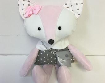 toy,Fox Doll,  Handmade Stuffed Fox Toy, Woodland Animal Toys, Gift for Boys, Nursery Decor, Forest Animal, Soft Toys,Fox Stuffed Doll