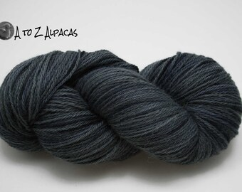 Hand Dyed Royal Baby Alpaca Yarn Worsted Weight