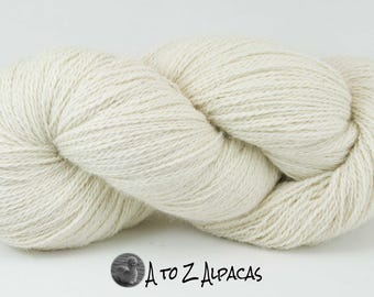 Sock Weight - White - Alpaca Yarn - Made in Canada