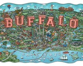 Illustrated Map of Buffal...