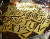 """Vintage Extra Large 8.25"""" Brass Letters and Numbers Double Set"""