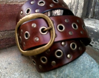 Wild Bill Handmade Leather Belt  (Brown-Limited Edition)