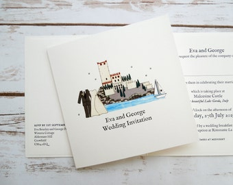 Malcesine Castle Wedding/Evening Invitations