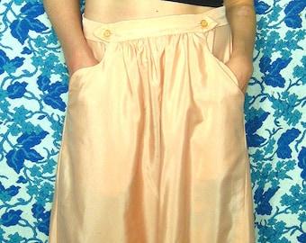 Handmade Vintage Peach Midlength Skirt