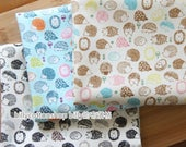 m159_45 - Hedgehog fabircs - cotton fabrics ( 3 color to choose) in Half Yard
