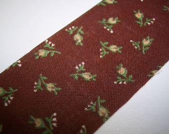 Brown Powder Room Fabric Ribbon 6 Yards