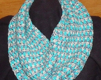 Hand crocheted eternity scarf