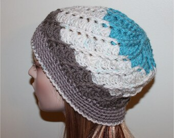 Vintage Inspired Beanie Hat One of a Kind Women Fun Fashion Swirl Hat Gatsby Style Womans Cloche Crochet Hatns Hat Teen H