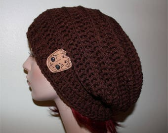 "Guardians of the Galaxy - Slouchy Hat - Toque - Ladies Hat - Slouchy - ""I am Groot!"", Groot Hat, Adult Beanie, Hippie - Boho - Dreads Beanie"