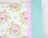 Abigail Pink Floral Vintage Style Pillowcase