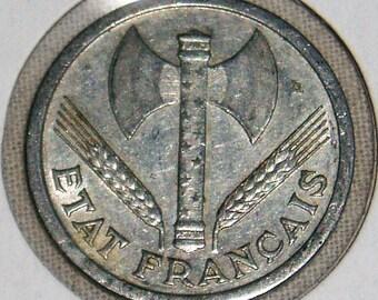 France Coin, 2 Francs, 1943-B