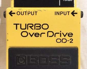 Classic Boss Turbo Overdrive distortion Guitar Pedal Effect OD2