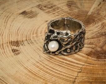 "Handmade silver ring ""Organic"""