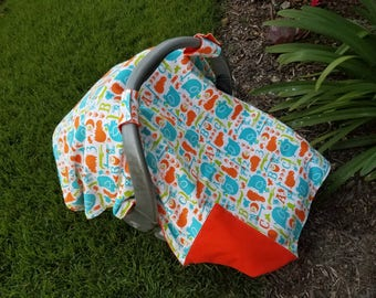 Baby Car Seat Cover ABC's and Animals