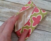 Pink cotton Travel tissue cover, Accessory Bags, tissue cover