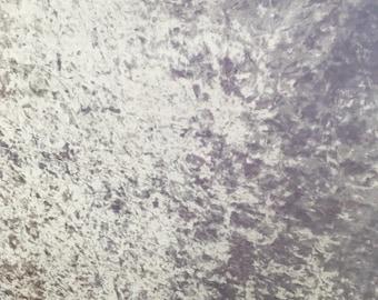 4-Way Stretch Crushed Velvet Fabric - White