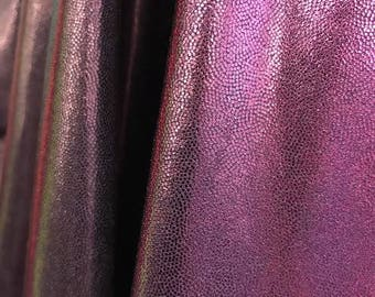 4- Way Stretch Mystique Metallic Ombre Spandex Fabric - Black and Purple