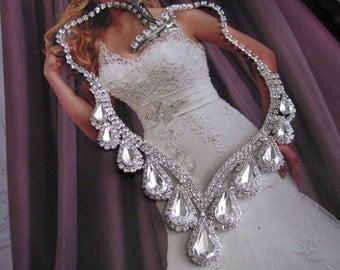 2 piece set Necklace Hair Jewelry - Bridal Jewelry - Wedding Jewelry - bridal set