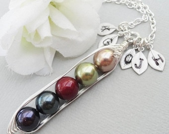 Christmas Sale Sweet Peas In A Pod 2, 3,4 Or 5 Pearls Jewel Colors  - Pick And Mix Your Colors