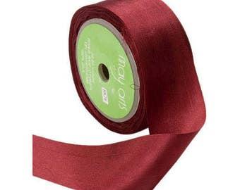 Burgundy  Silk Ribbon, 1.25 Inch Silk Ribbon, Burgundy Ribbon. Gift Wrap, Packaging, Wedding Favors,