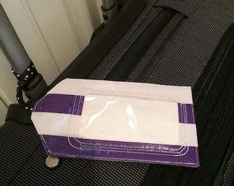 Luggage Tag/ Purple Luggage Tag/ Preppy Luggage Tag/ Travel Accessories/ Travel Accessory/ Luggage ID/ Suitcase ID/ Travel / Bridesmaid Gift