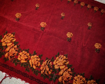 A Drop Dead Gorgeous Velvet Rose Antique Material Panel