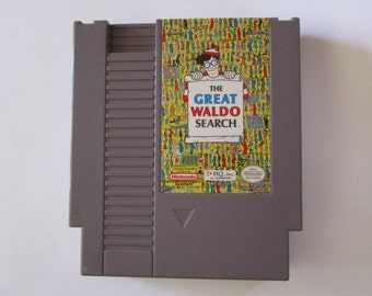 The Great Waldo Search--Vintage Nintendo Game (NES) Works!