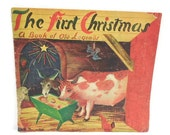 Rare Roger Duvoisin Christmas Booklet: The First Christmas, A Book of Old Legends, 1946 Hoffman's Department Store Giveaway