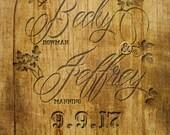 Carved Wood Wedding Invitations, Budget Invitation, Invitation Set, Vineyard Wedding , Custom Listing for mooshoo07