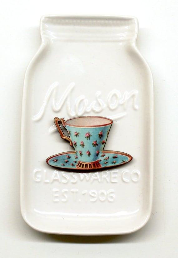 Blue Teacup #3 Needle Minder