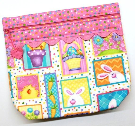 BIG BOTTOM Hippity Hop Cross Stitch, Embroidery Project Bag