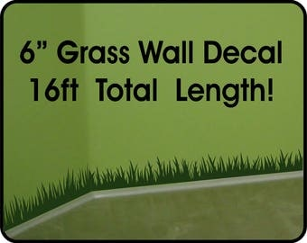 Grass Wall Decal wall border - removable vinyl wall stickers / grass wall decal for nursery / room border decal