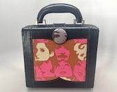 Vintage Box Purse Boxpurse - Upcycled 80's Meets 60's Mod Punk