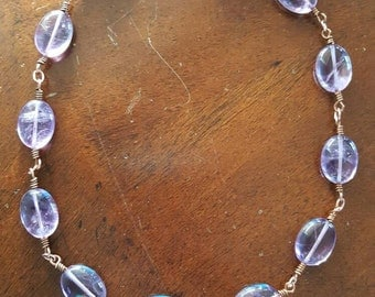 Amethyst Choker Necklace and Earrings Set by AfterWork