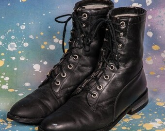 20%Off Black LACER Boots Women's Size 7 B
