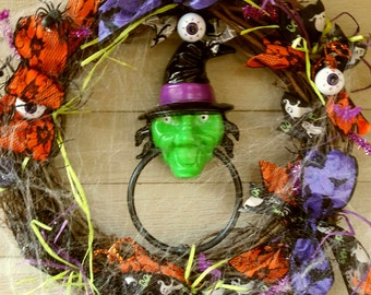 25% OFF  Halloween Witch Spider Eyeball Wreath