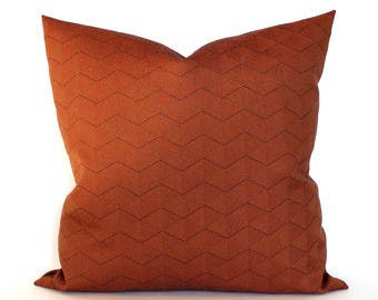 Rust Pillow Cover Modern Geometric Upholstery Fabric Throw Pillow Cover Decorative Pillow Cushion Cover 20x20 18x18 16x16