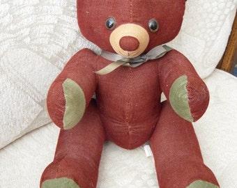 Vintage Teddy Bear Corduroy Stuffed Animal Toy
