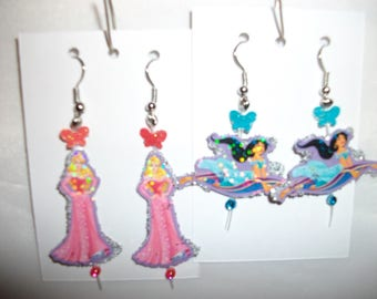 Disney Jasmin n Sleeping Beauty Aurora Earrings