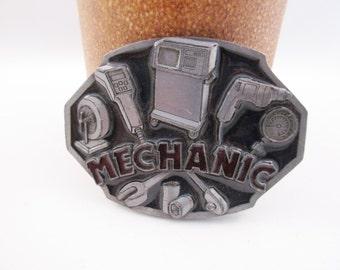 Mechanic Belt Buckle Auto Mechanic Vintage Construction Free Shipping - FL
