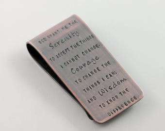 Serenity Prayer - Copper Money Clip