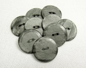 """Silver Gray Matte & Shiny: 7/8"""" (22mm) Marbled Gray Buttons - Set of 9 New / Unused Buttons"""